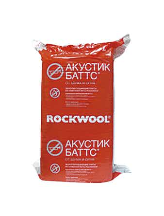 Звукоизоляция Rockwool Акуст Баттс 1000 х 600 х 120 мм