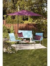 Зонт садовый с регулируемым наклоном, фиолетовый, 270 x 210 см