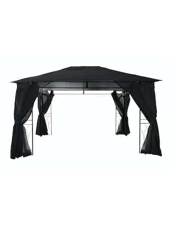 Paviljong Gazebo Cello Barcelona 3x4m Svart