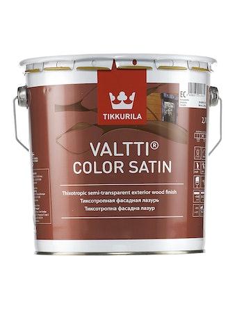 Антисептик Tikkurila VALTTIСOLOR SATIN, бесцветный, 2,7 л
