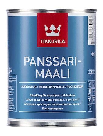 Краска для крыш Tikkurila Panssarimaali, полуглянцевая, 0,9 л