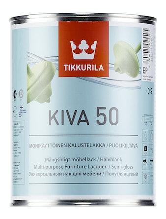 Лак мебельный Tikkurila KIVA, полуглянцевый, 0,9 л