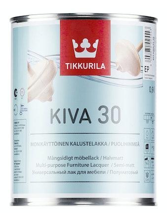 Лак мебельный Tikkurila KIVA, полуматовый, 0,9 л