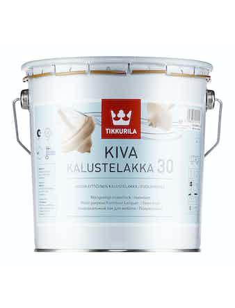 Лак мебельный Tikkurila KIVA, полуматовый, 2,7 л