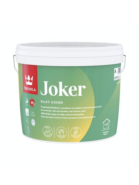 JOKER SISUSTUSMAALI 2,7L A VALKOINEN SÄVYTETTÄVISSÄ