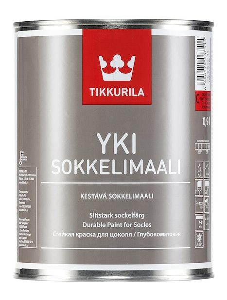 YKI SOKKELIMAALI A 0,9L SÄVYTETTÄVISSÄ