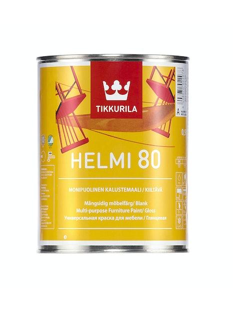 HELMI 80 KALUSTEMAALI KIILTÄVÄ 1L LISTAVALKOINEN