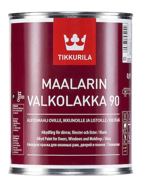 MAALARIN VALKOLAKKA 90 0,9L KIILTÄVÄ AM VALKOINEN SÄVYTETTÄVISSÄ