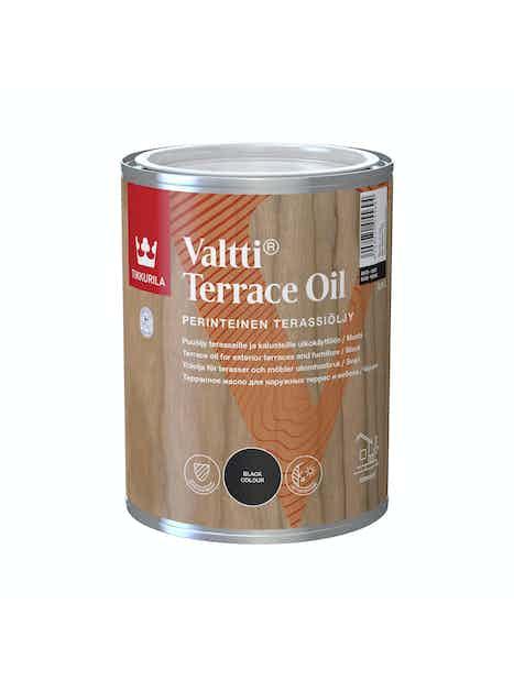 VALTTI KALUSTE- JA TERASSIÖLJY 0,9L MUSTA