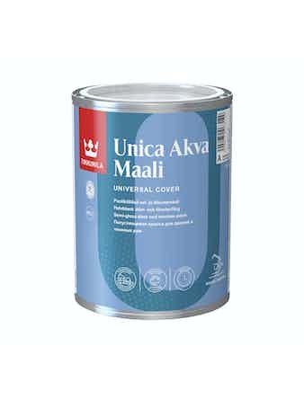 Краска для окон и дверей Tikkurila UNICA AKVA, полуглянцевая, 0,9 л