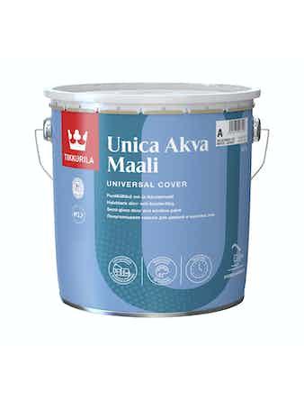 Краска для окон и дверей Tikkurila UNICA AKVA, полуглянцевая, 2,7 л