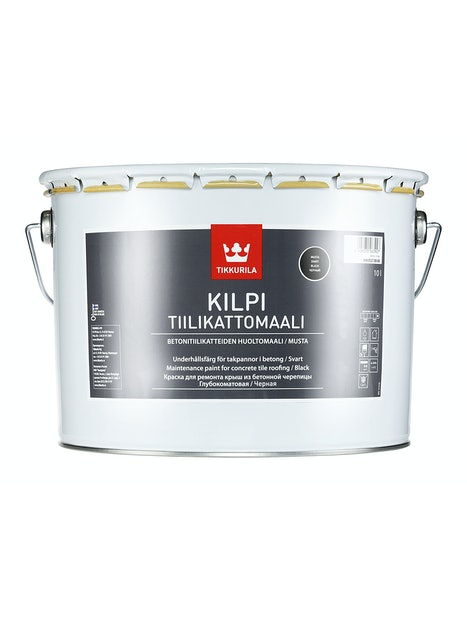 KILPI TIILIKATTOMAALI 10L MUSTA