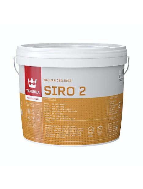 SIRO 2 POHJA- JA KATTOMAALI 18L MAALARINVALKOINEN G497