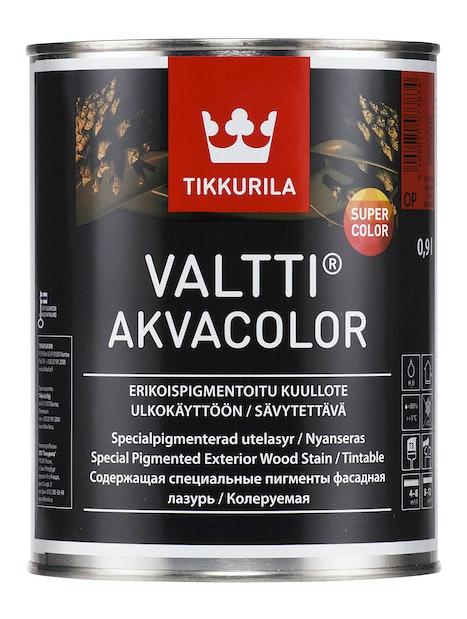 VALTTI AKVACOLOR OP 0,9L KUULLOTE SÄVYTETTÄVÄ