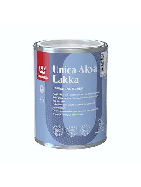 UNICA AKVA LAKKA EPL 0,9L PUOLIKIILTÄVÄ AKRYLAATTILAKKA