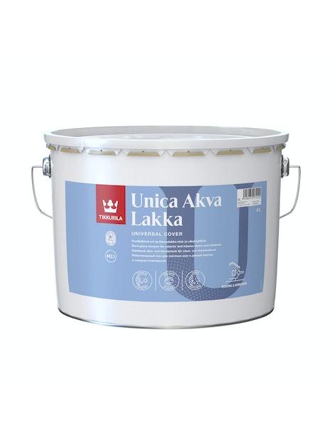 UNICA AKVA LAKKA EPL 9L PUOLIKIILTÄVÄ AKRYLAATTILAKKA