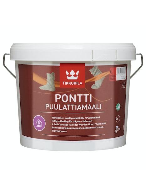 PONTTI PUULATTIAMAALI 2,7L A VALKOINEN SÄVYTETTÄVISSÄ