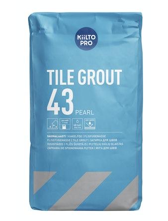 Kakelfog Kiilto ljusgrå 43 20 kg