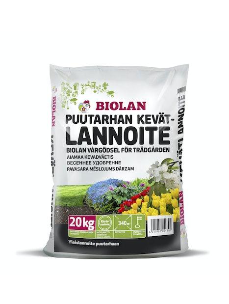 PUUTARHAN KEVÄTLANNOITE BIOLAN 20KG