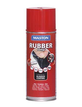Rubbercomp Spray röd halvblank 400 ml