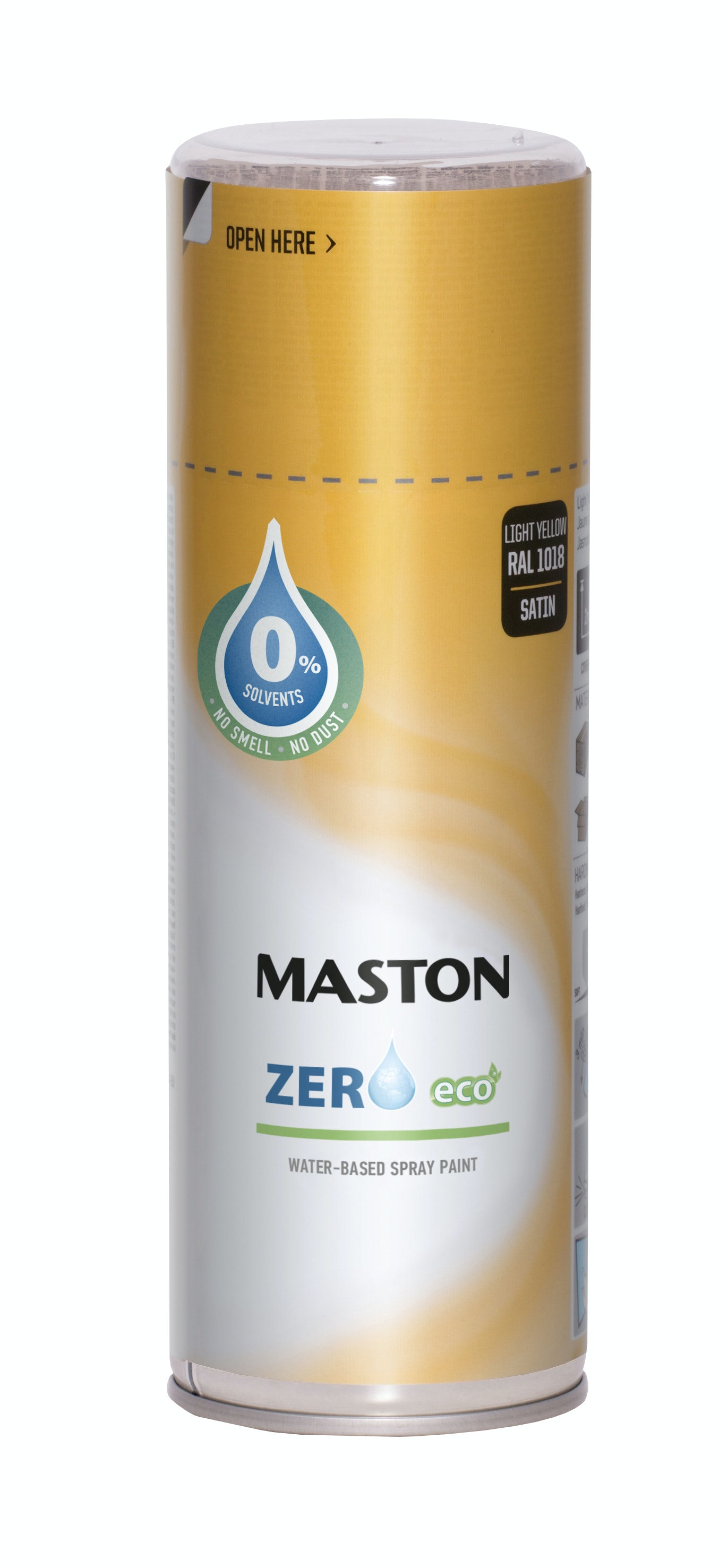 Sprayfärg Maston Zero Halvblank Rapsgul 400ml