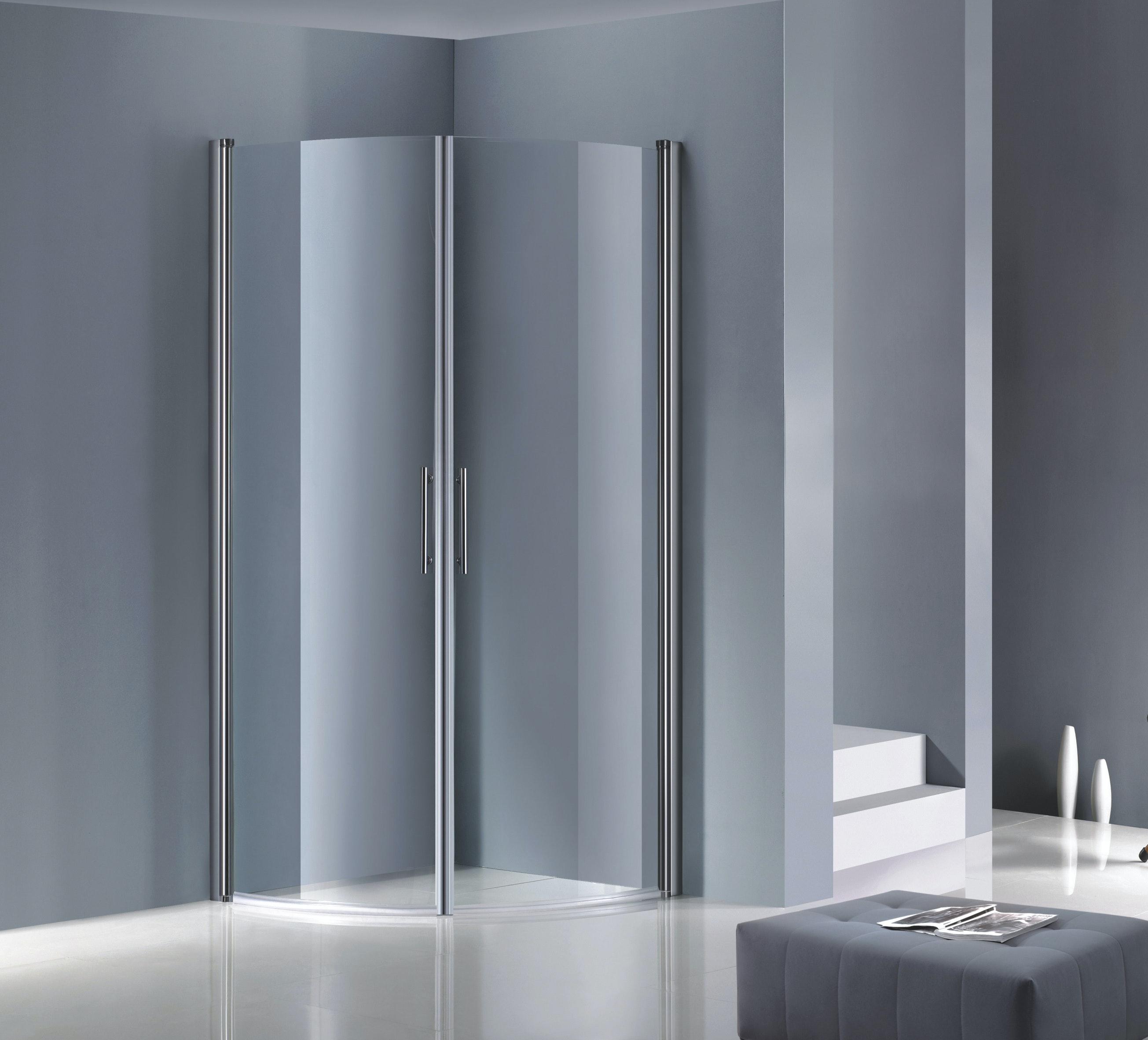 Duschhörna Opal K-128B 90x90x195cm Klarglas