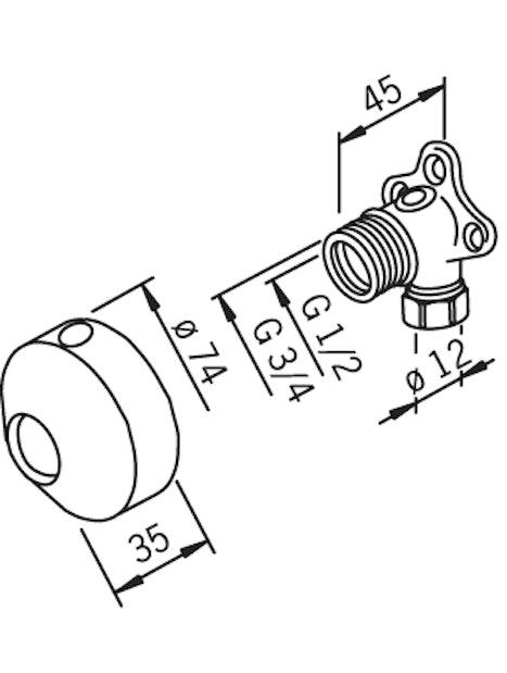 KULMALIITINPARI ORAS 12MM 204021Z/2