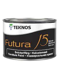 FUTURA 15 KALUSTEMAALI 0,45L PUOLIHIMMEÄ PM1 VALKOINEN SÄVYTETTÄVISSÄ