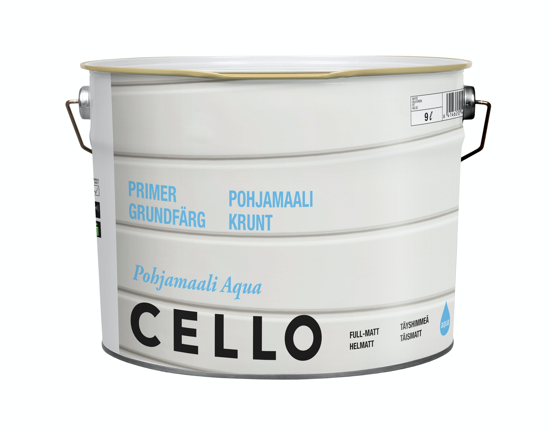 Grundfärg Cello Aqua Helmatt Vit/Bas 1 9l