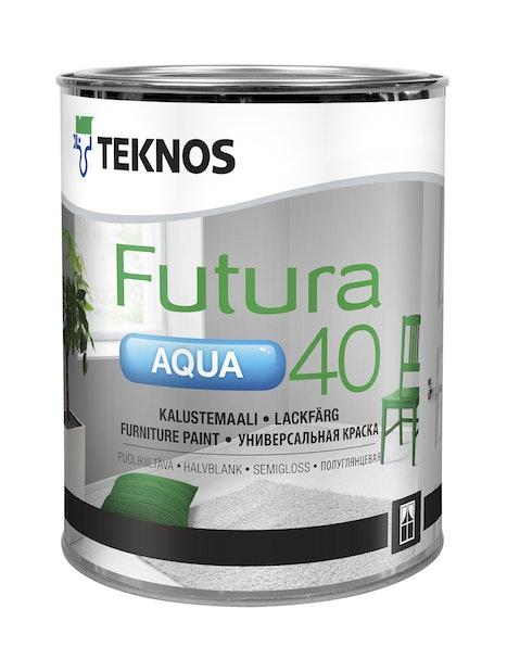 FUTURA AQUA 40 KALUSTEMAALI 0,9L PUOLIKIILTÄVÄ PM1 VALKOINEN SÄVYTETTÄVISSÄ
