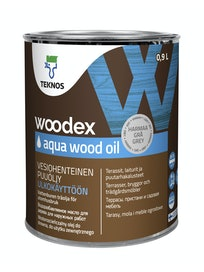 WOODEX AQUA WOOD OIL HARMAA PUUÖLJY 0,9L