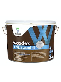 WOODEX AQUA WOOD OIL HARMAA PUUÖLJY 9L