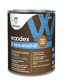 WOODEX AQUA WOOD OIL RUSKEA PUUÖLJY 0,9L