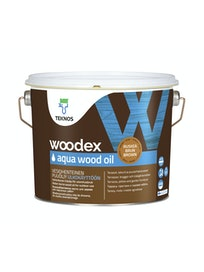 WOODEX AQUA WOOD OIL RUSKEA PUUÖLJY 2,7L
