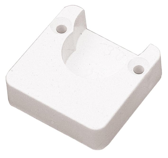 Klädstångshållare Prof I Plast 25mm 2-Pack