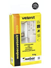 Затирка Weber Vetonit Deco 25, 15 кг, лимон