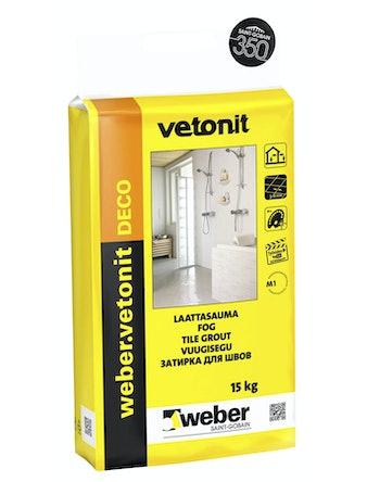 Затирка Weber Vetonit Deco 21, 15 кг, сливки
