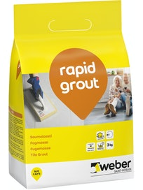 SAUMALAASTI WEBER RAPID GROUT 16 GREY 3KG