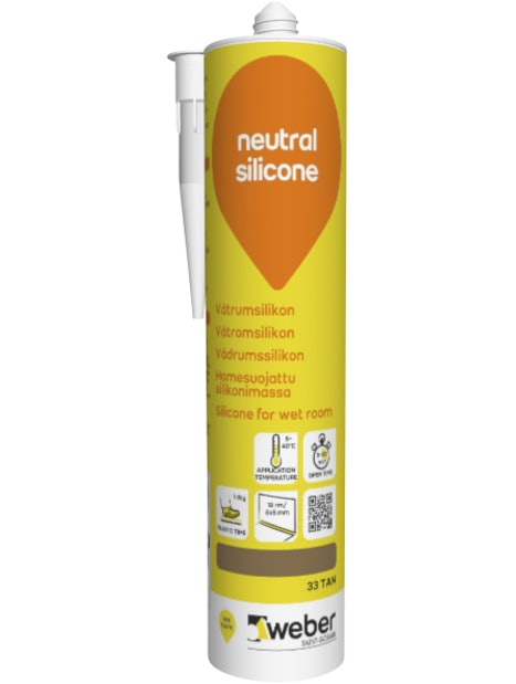 SILIKONI WEBER NEUTRAL 33 TAN 310ML