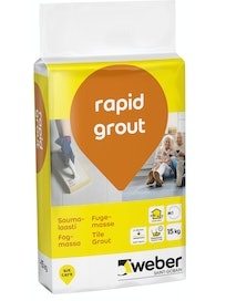 SAUMALAASTI WEBER RAPID GROUT 16 GREY 15KG