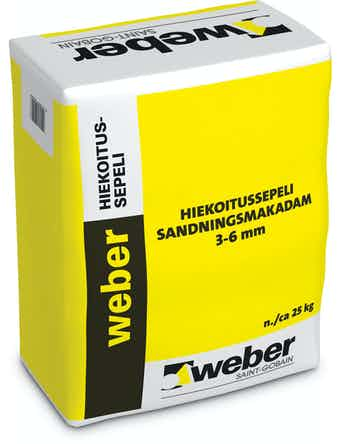 Sandningsmakadam Weber Saint-Gobain 25Kg