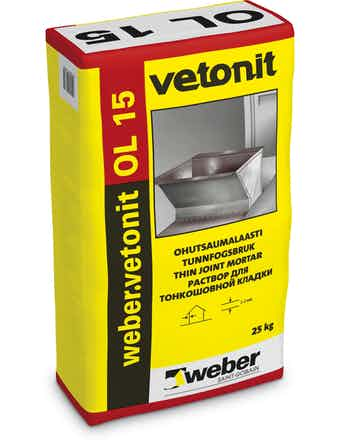 Ol Weber 15 Tunnfogsbruk 25 kg