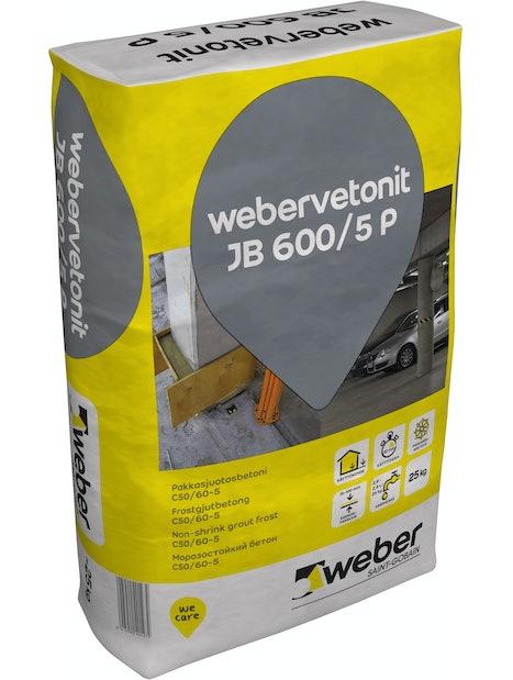 PAKKASJUOTOSBETONI WEBER JB 600/5 P 25KG
