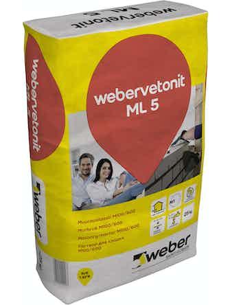 Murbruk Weber ml 5 Vetonit 25kg