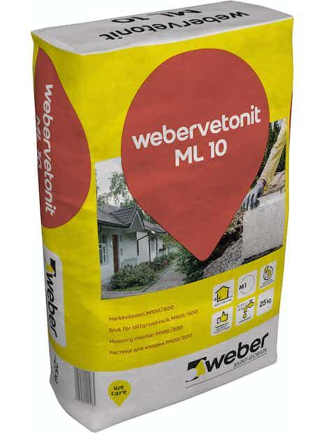 HARKKOLAASTI WEBER VETONIT M100/500 ML 10 25KG