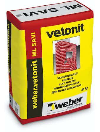 Раствор глиняный Weber.Vetonit ML SAVI 25 кг