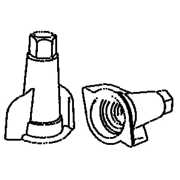 Toppklämma Opal Röd 3-12,5mm 25st