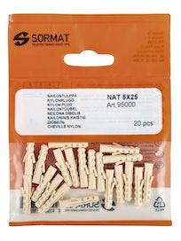 NAILONTULPPA SORMAT NAT 5 5X25MM 20KPL