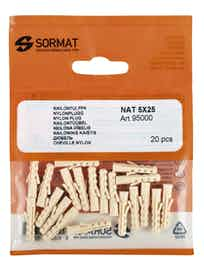 NAILONTULPPA SORMAT NAT 8 L 8X65MM 5KPL