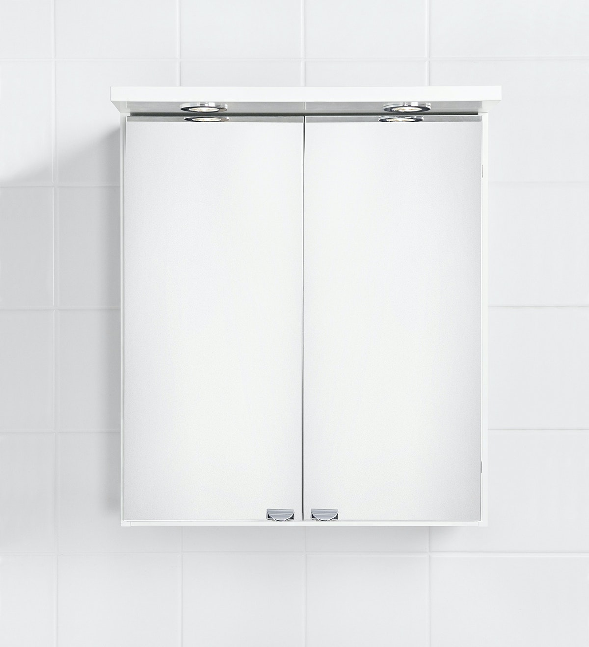 Spegelskåp Ido Renova 9342805001 Vit Halogenramp